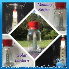 Solar Lights - Solar Mason Jar - Mason Jar Solar Light - Home and Garden Decor - Upcycled Recycled Repurposed - MemoryKeeper