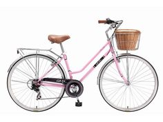 "Go Easy Online - Retro/Cruiser Bicycle 28"" (15'') 6 Speed Ladies' Powder pink By GMX"
