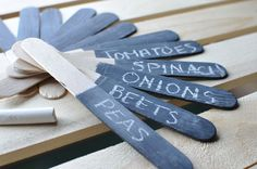 Chalkboard Painted Garden Labels | Awesome with Sprinkles