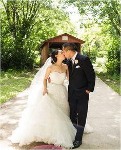 The covered bridge is a beautiful spot for wedding photos! Museum Wedding, Covered Bridges, Documentaries, Wedding Photos, Backyard, Weddings, Wedding Dresses, Image, Beautiful