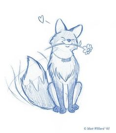 Gaia Online is an online hangout, incorporating social networking, forums, gaming and a virtual world. Cool Art Drawings, Cute Animal Drawings, Art Drawings Sketches, Kawaii Drawings, Cartoon Drawings, Cartoon Art, Animal Sketches Easy, Cute Fox Drawing, Art Inspiration Drawing