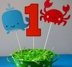 Under the Sea Birthday Party Centerpiece Sticks