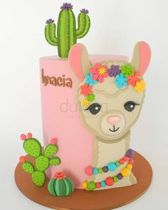 Discover recipes, home ideas, style inspiration and other ideas to try. Bday Girl, Birthday Cake Girls, 3rd Birthday, Pretty Cakes, Cute Cakes, Pinata Cake, Pot A Crayon, Fiesta Theme Party, Llama Birthday