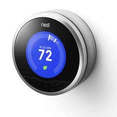 The Nest Thermostat programs itself to your routine in a week and turns itself down when you're away. Energy History shows you how much energy you've used daily. Nest helps you understand how your home uses energy so you can save more. Also operable from your phone or computer via app.