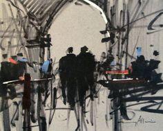 """Tony Allain - """"Fish Market, Venice"""""""