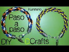 COMO HACER PULSERA DE KUMIHIMO BASICA DE CUATRO HILOS VIDEOTUTORIAL MANUALIDADES DIY - YouTube