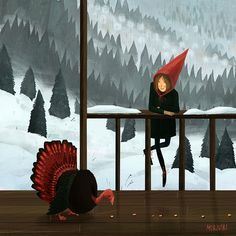 waiting for holiday on Behance