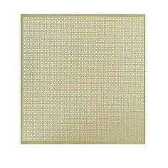 12 in. x 24 in. Lincane Aluminum Sheet in Brass