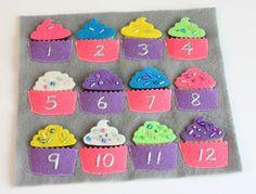 Cupcake quiet book page