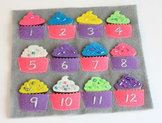 Cute book with template for cupcakes plus links