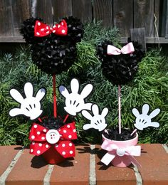 Minnie Mouse Centerpiece Minnie Mouse Party by MyCraftySides, $15.00