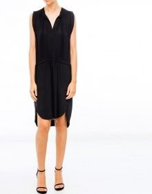 NICKY Vestido creppe cintas - Negro ISABEL MARANT ETOILE --- OUTLET