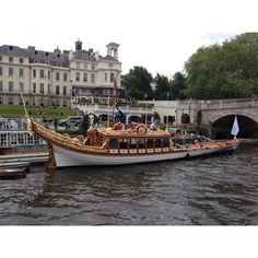 The queens barge at Richmond ready for Tuesdays regatta.