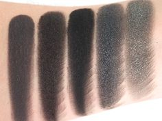 Swatches (L-R) 5th Avenue, My Little Black Dress, Black Lace, Starry Sky & Queen For A Day