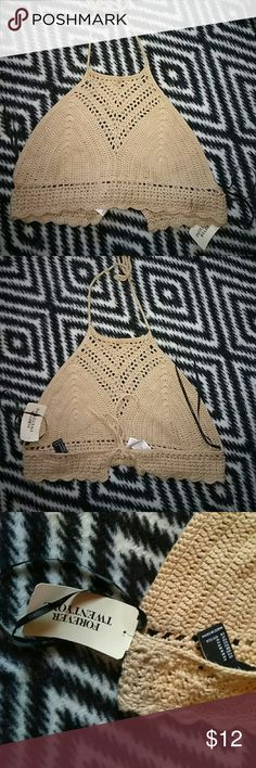 Forever 21 Bohemian Knit Crop- SALE UNTIL 6 PM EST Forever 21 Bohemian Knit Crop Top  *Size-Medium *New With Tags Forever 21 Tops Crop Tops