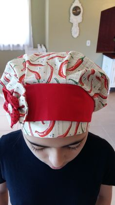 Scrub Hat Patterns, Work Uniforms, Bandana, Scrub Hats, Fascinator, Scrubs, Sewing, Fabric, Handmade
