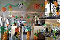 Jungle Safari Theme Balloon Decoration