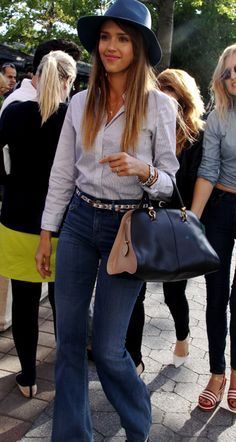 Copy her mom style: Find out where you can buy Jessica Alba's must-have jeans, including flare and cool printed denim!