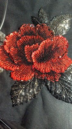 Wonderful Ribbon Embroidery Flowers by Hand Ideas. Enchanting Ribbon Embroidery Flowers by Hand Ideas. Zardosi Embroidery, Hand Embroidery Dress, Embroidery Neck Designs, Bead Embroidery Patterns, Couture Embroidery, Bead Embroidery Jewelry, Silk Ribbon Embroidery, Tambour Embroidery, Sequin Embroidery