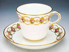 Minton cup and saucer  1868 - Love Mintons