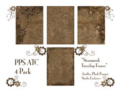 Plush Possum Studio: Steampunk Free Printable
