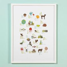 So cute and educational... this would go with Ikea toys and decor I think.