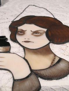 Poison girl by Carla Urbani Vetrate Artistiche