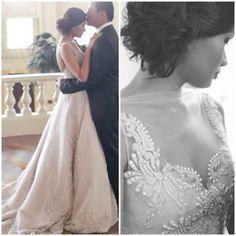 Designer: Veluz. Open back, lace detail.