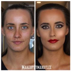 Before and after by makeupbymandylee