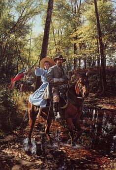 ACW Confederate: TO THE LOST FORD, General N.B. Forrest & Emma Sansom, 2 May 1863, by John Paul Strain.
