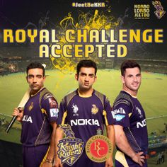 Support the #Knights and let's hope they register their sixth consecutive win today against the RCB.  #KorboLorboJeetbo #OneTeamOnePledge #JeetBeKKR #KKRvsRCB  Follow us on Instagram www.instagram.com/kkriders
