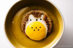 easy kabocha soup with totoro egg in a hole recipe - www.iamafoodblog.com