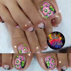 Toe Nail Designs, Toe Nails, Work Nails, Amor, Frases, Pretty Toe Nails, Simple Toe Nails, Toe Nail Art, Long Nail Designs