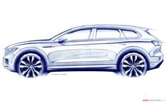 Volkswagen Reveals First Sketch of All-New Touareg