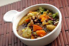 Ayurvedic Winter Vegetable Stew with Adzuki Beans