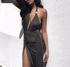 Khloe Vive Side-Wrapped Cocktail Dress