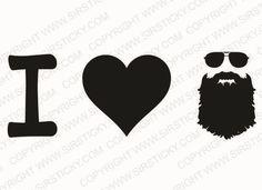 I Heart Beard Vinyl Decal Funny Meme Moustache Lumbersexual Metrojack Sticker in Decals, Stickers & Vinyl Art   eBay