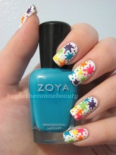 LOVE LOVE LOVE!! So cute and fun =)  Awesome LGBT Pride manicure uploaded by @Michelle Silva