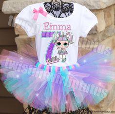 LOL Surprise Unicorn Doll Birthday Tutu Outfit - Birthday Shirts - Ideas of Birthday Shirts - LOL Surprise Unicorn Doll Birthday Tutu Outfit Birthday Party Outfits, Birthday Tutu, Birthday Shirts, Girl Birthday, Surprise Birthday, Surprise Cake, Tutu Outfits, Tutu Dresses, Lol Doll Cake