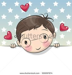 Greeting card cute Cartoon Boy with placard vetores de greeting card cute cartoon boy with placard e mais imagens de arte royalty-free Cartoon Cartoon, Cute Cartoon Boy, Cartoon Elephant, Blue Nose Friends, Star Background, Baby Girl Cards, Image Clipart, Banner Printing, Cute Drawings