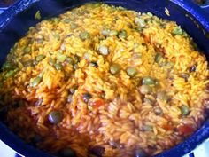 Puerto Rico's National Dish: Rice with Pigeon Peas: Rice and Pigeon Peas - Arroz con Gandules