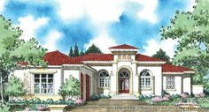 Another great one story house plan with three bedrooms and guest room. Large kitchen with nook and formal dining.