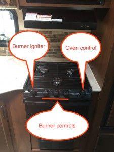 Jayco travel trailer simplified range controls including spark