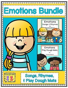 Learn about various emotions with these original piggyback songs and rhymes, and reinforce with play dough mats! TpT$