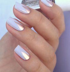 fingernägel bilder hochzeitsnägel schlichtes nagelgesign