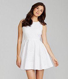 Chelsea & Violet Allover Eyelet Dress | Dillards.com