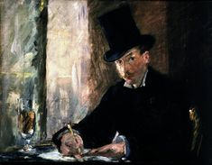 "Manet's ""Chez Tortoni"" was one of 13 works of art taken from the Isabella Stewart Gardner Museum, which provided images of all of the stolen works. The robbery, which occurred in 1990, has been considered one of the most infamous art heists in history."