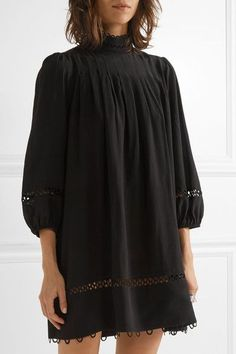 APIECE APART | La Sierra pleated silk crepe de chine mini dress | NET-A-PORTER.COM