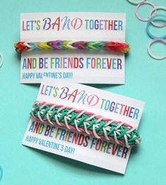 Genius! Now I know how I'm getting rid of all the loom bands bracelets all around our house... I can only fit so many on my wrist. 10 Valentine Ideas Kids Will Love | RichmondMom.com