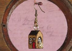 DS-002 Old Mill Steampunk House Earring-Pendant-HomeDecor artificially aged wood recycled jewelry industrial shabby chic boho. $18.81, via Etsy.